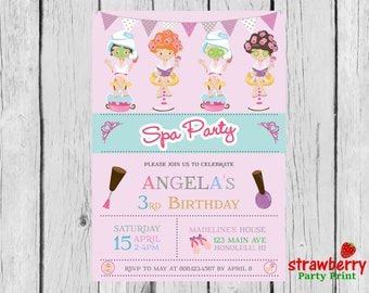 Spa Party Invitation, Spa Birthday Party, Spa Birthday Invitation, Spa Invitation, Spa Party, Spa Makeup Party, Party Printables
