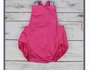 romper, summer romper, shorts, overalls, pink & blue