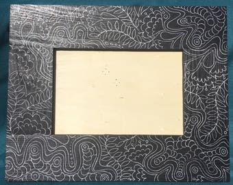 Floral Zentangle Picture Frame