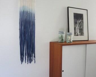 Macrame wall Hanging, Boho macrame, Indigo, Ombre, Modern Macrame, Boho Chic, Beach,  Cottage Style,