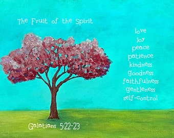 Galatians 5 / Fruit of the Spirit / Bible Verses / Scripture / Bible Verse Picture / Christian Gifts / Christian Art / FREE SHIPPING