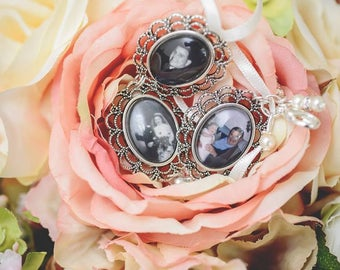 Small Vintage Silver S2 Personalised Photo Bouquet Memory Charm LIMITED EDITION - LINKABLE