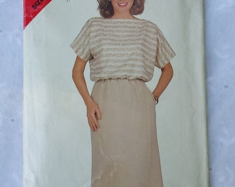 Vintage See & Sew Top and Skirt Sewing Pattern