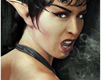 Demon elf pixie ears LARP Cosplay Latex Elf Ears incl Mastix - HALLOWEEN SFX