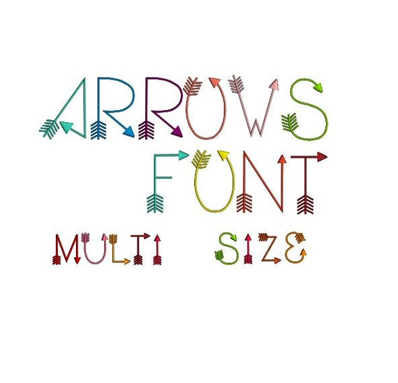 Arrows font machine embroidery design woodland alphabet for Embroidery office design version 9