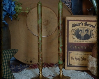 5, Primitive, Grubby, Grungy, Pencil Style Taper, Scented, Candles, Bowl Fillers, Lantern, Lighting, Rustic, Farmhouse