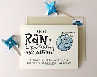 Half Marathon Card / Run 13.1 / Card for Half Marathon / Runner Gifts