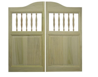 Solid Poplar Western Cafe / Saloon Doors with Spindles