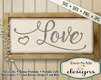 Wedding SVG - Valentine svg - Love SVG cut file - Heart SVG - valentine or wedding stencil - Commercial Use svg, dxf, png, jpg