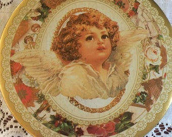 Vintage Tins, Candy Tin, Ivory Angel / Choc.Cherubs, 10oz. Collectible Candy Tins, Home and Living, Vintage Tins.