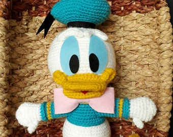 Crochet Donald duck Disney Amigurumi stuff toy animal