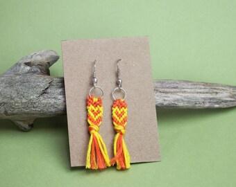 Handmade Woven Friendship Bracelet Earrings