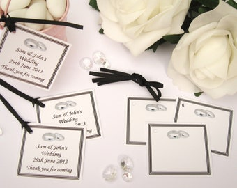 Personalised Wedding Gift Tags - Black - Pack of 10 tags