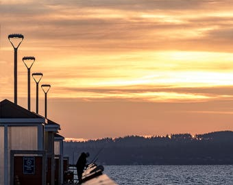 Sunset Photo, Landscape Photography, Nature Photo Sunset, Edmonds Washington