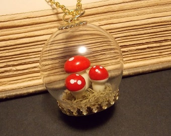 Toadstool Globe Necklace