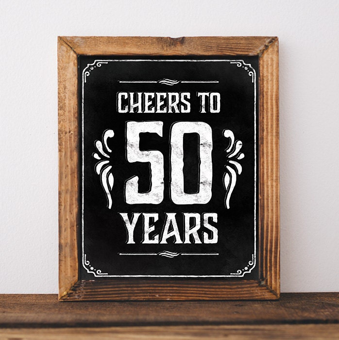50th birthday party decorations Printable 50 th birthday