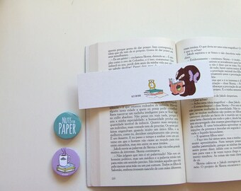 Squirrel Reading about Acorns - Squirrel Bookmark Collection