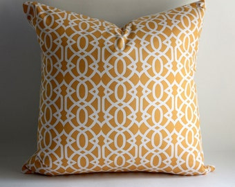 Trellis Pillow Cover/ 16x16/ Geometric Cable/ Flights of Fancy
