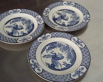 3 Vintage Wood and Sons Juan Tea Side Plates 17 cm