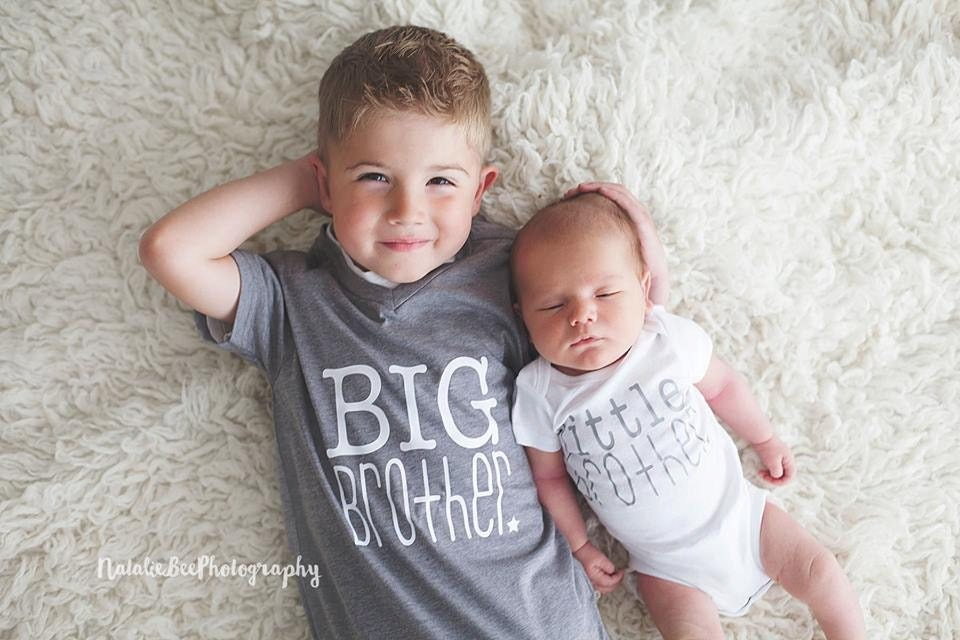 Big Brother shirt and litte brother bodysuit new baby