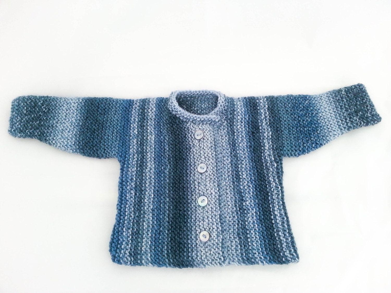 KNITTING PATTERN , Garter Stitch Baby Cardigan, Baby Sweater , 5 ...
