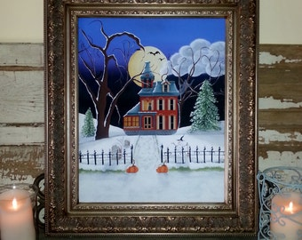 A Frosty Hallow's Eve Painting Pattern