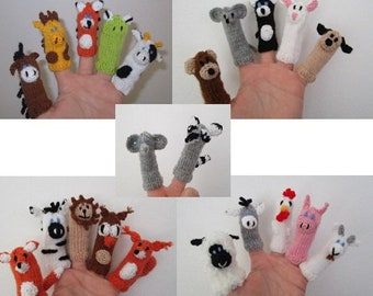 Finger puppet set individually made to put together
