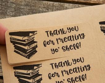 Je vous remercie pour le traitement yo étagère - vendent des autocollants livre - emballage livre librairie d'affaires - libraire - livre - livres - librairie