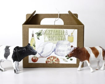 Mozzarella and Ricotta DIY cheese kit - multiple batches, organic, handmade, gift box, italian food, cheese making, do it yourself, green