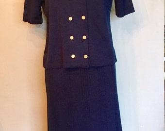 Classic Mita 2-Piece Navy Knit Suit