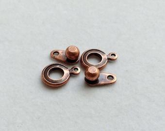 Antique Copper Clasp Set - 2 pair