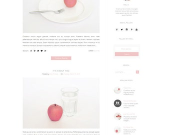 Responsive Premade Blogger Template - Clean Minimalist Design - Simple Blog - Fashion -Blogspot