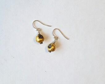 Druzy agate geode earrings