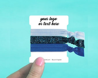 60 Custom Hair Tie Cards 2.5 x 3"