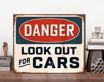 Danger metal sign, Look out for Cats, Danger Signs, Danger Cats, Custom sign, Cats Sign Metal, Custom Danger Decor, Funny Metal Sign, Sign