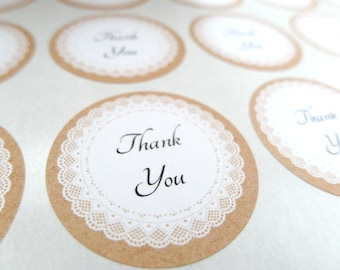Personalized Label,  Personalized Sticker, Lace Doily Sticker - Made to Order