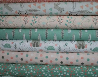 ONLY 2 REMAINING FQ Fabric Bundle - Little Ones Woodland Fabric Collection ~ Cotton Fabric by 3 Wishes  - 10 Pieces - Entire Collection