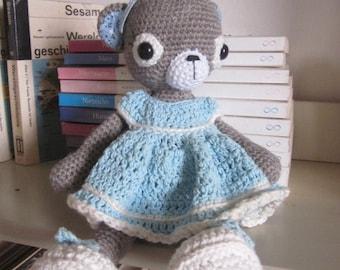 AIMEE, Handmade Crocheted Bear, Amigurumi, Crocheted Bear, Handmade Doll, Handmade