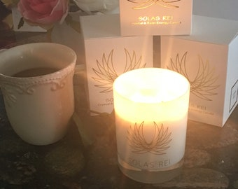 Mother's Day, LOVE, Crystals, Rose, Eco friendly, Scented Soy Candle, Handpoured, Soy Candles handmade, Reiki Energy, Quartz crystal.