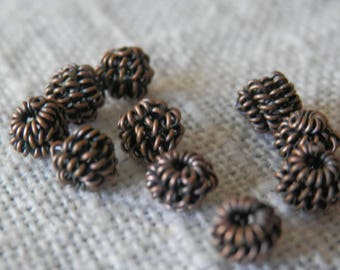 5mm 20pcs Coil Spacer Beads Copper Beads Wire Spacer Beads Jewelry Making Beading Supplies DIY Supplies