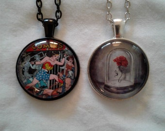 wonder women beauty and the beast necklace