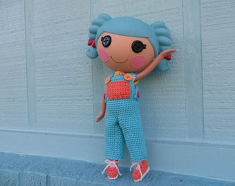 Crochet Pattern for Lalaloopsy Doll Clothes Overalls T-Shirt Sneakers PDF Instant Download