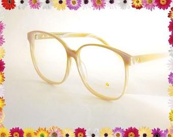 Huge Glasses, Vintage 1980s Glasses, Designer Eyeglasses, Big 80s Glasses, Liz Claiborne Eyeglasses, White Marble Wood Grain Eyeglasses