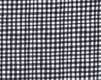 NEW! Fabric by the Yard - Fat Quarter Bundle - Fabric Bundle - Quilt Fabric - Gingham Fabric - Black Gingham - Flutterby