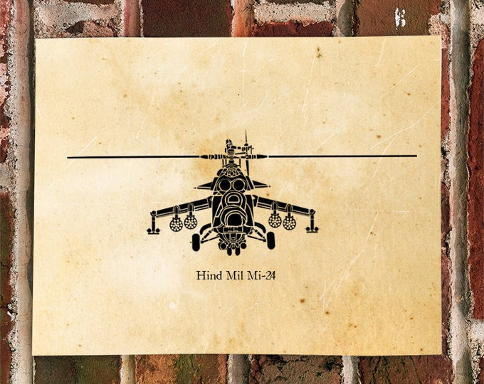 KillerBeeMoto: Limited Print Hind Mil Mi-24 Russian/Soviet Attack Helicopter Print