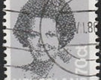 Nederland 70 cent Queen Beatrix postage Stamp, canceled, Scott #1212C, Lot of 10, 50, 1982, good shape