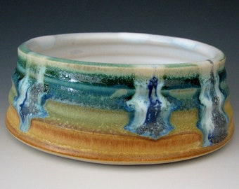 SMALL DOG BOWL #25 - Stoneware Cat Bowl - Puppy Bowl - Small Dog Dish - For Puppies - For Cats - Ceramic Cat Bowl - Cat Dish - Cat Feeder