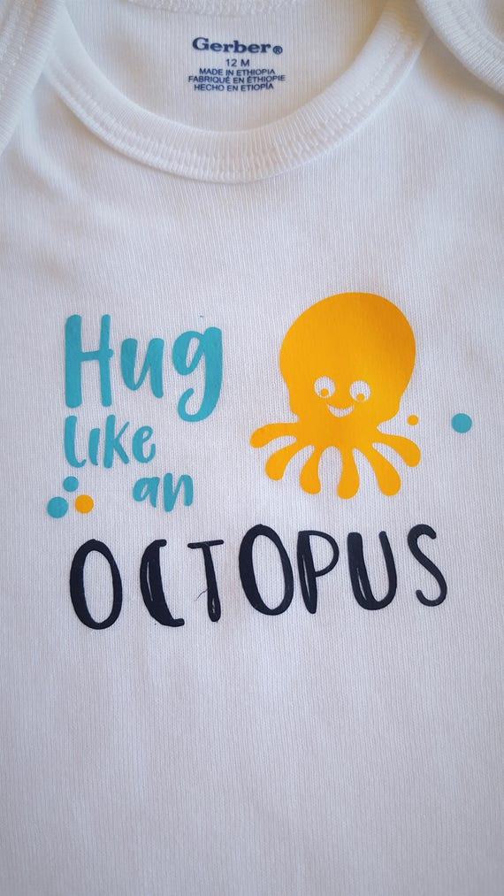 Hug Like an Octopus Baby Bodysuit