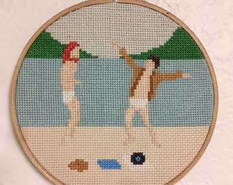 "Moonrise Kingdom 6"" cross stitch"