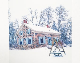 Photo Postcard - Chanticlear Stone House in Winter